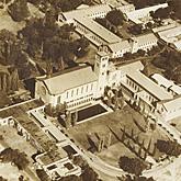 Aerial views of the University campus Hackett Memorial buildings Irwin Street buildings (1954)
